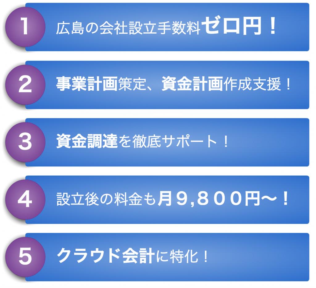 黒田公認会計士事務所 会社設立特徴